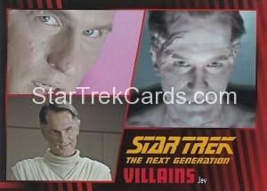Star Trek The Next Generation Heroes Villains Trading Card 941