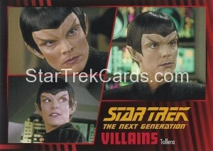 Star Trek The Next Generation Heroes Villains Trading Card 95