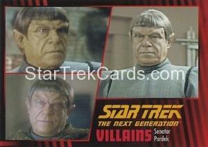 Star Trek The Next Generation Heroes Villains Trading Card 961