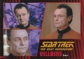 Star Trek The Next Generation Heroes Villains Trading Card 991