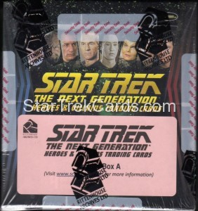 Star Trek The Next Generation Heroes Villains Trading Card Archive Box