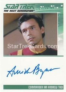 Star Trek The Next Generation Heroes Villains Trading Card Autograph Amick Byram