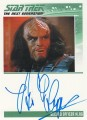 Star Trek The Next Generation Heroes Villains Trading Card Autograph Brian Thompson