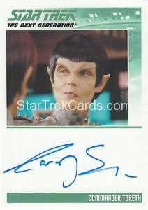 Star Trek The Next Generation Heroes Villains Trading Card Autograph Carolyn Seymour