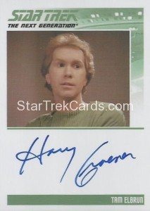 Star Trek The Next Generation Heroes Villains Trading Card Autograph Harry Groener
