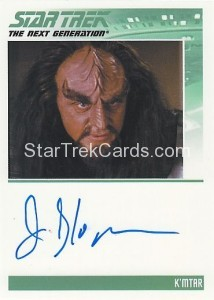 Star Trek The Next Generation Heroes Villains Trading Card Autograph James Sloyan