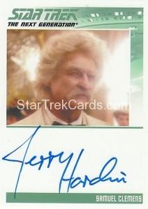Star Trek The Next Generation Heroes Villains Trading Card Autograph Jerry Hardin