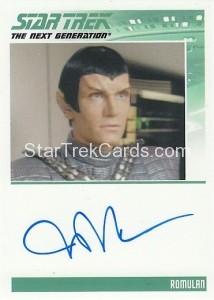 Star Trek The Next Generation Heroes Villains Trading Card Autograph John DeMita