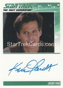 Star Trek The Next Generation Heroes Villains Trading Card Autograph Ken Olandt