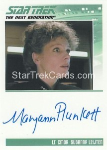Star Trek The Next Generation Heroes Villains Trading Card Autograph Maryann Plunkett