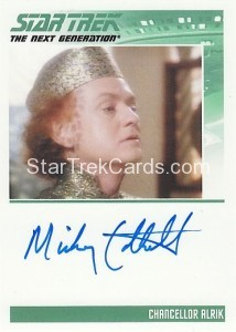 Star Trek The Next Generation Heroes Villains Trading Card Autograph Mickey Cottrell