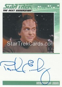 Star Trek The Next Generation Heroes Villains Trading Card Autograph Paul Eiding