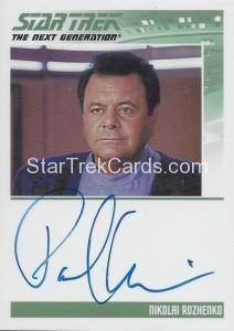 Star Trek The Next Generation Heroes Villains Trading Card Autograph Paul Sorvino