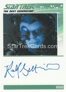 Star Trek The Next Generation Heroes Villains Trading Card Autograph Richard Gilbert Hill