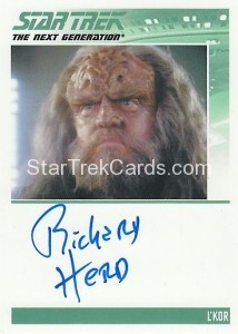 Star Trek The Next Generation Heroes Villains Trading Card Autograph Richard Herd