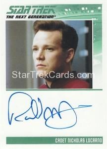 Star Trek The Next Generation Heroes Villains Trading Card Autograph Robert Duncan McNeill