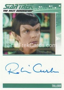 Star Trek The Next Generation Heroes Villains Trading Card Autograph Robin Curtis