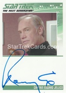 Star Trek The Next Generation Heroes Villains Trading Card Autograph Ronny Cox