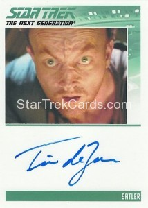 Star Trek The Next Generation Heroes Villains Trading Card Autograph Tim DeZarn