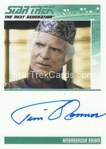 Star Trek The Next Generation Heroes Villains Trading Card Autograph Tim OConnor