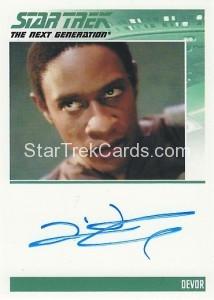Star Trek The Next Generation Heroes Villains Trading Card Autograph Tim Russ