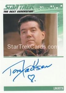 Star Trek The Next Generation Heroes Villains Trading Card Autograph Tom Jackson