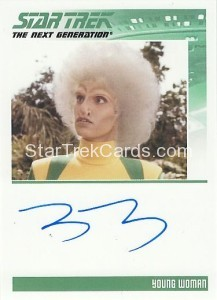 Star Trek The Next Generation Heroes Villains Trading Card Autograph Tracey DArcy