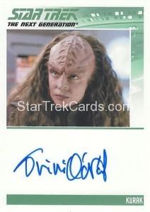 Star Trek The Next Generation Heroes Villains Trading Card Autograph Tricia ONiel Kurak