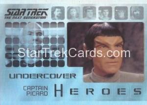 Star Trek The Next Generation Heroes Villains Trading Card H1