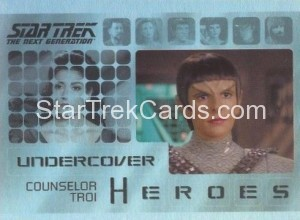 Star Trek The Next Generation Heroes Villains Trading Card H2