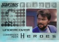 Star Trek The Next Generation Heroes Villains Trading Card H3