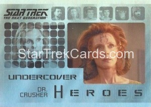 Star Trek The Next Generation Heroes Villains Trading Card H4