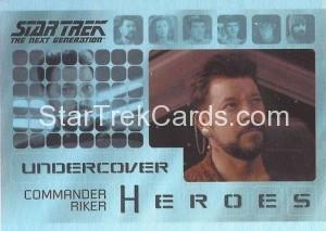 Star Trek The Next Generation Heroes Villains Trading Card H8