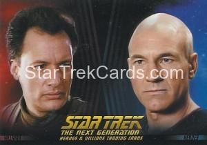 Star Trek The Next Generation Heroes Villains Trading Card P1