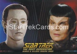 Star Trek The Next Generation Heroes Villains Trading Card P2