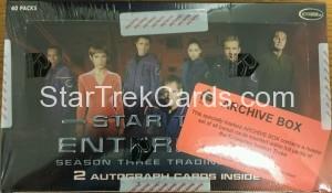 Star Trek Enterprise Season Three Trading Card Archive Box Top