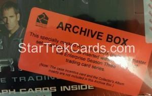 Star Trek Enterprise Season Three Trading Card Archive Box Top Alternate