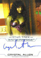 Enterprise Season Four Trading Card Autograph Crystal Allen