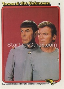 Star Trek The Motion Picture Kilpatrick's Bread Trading Card 2
