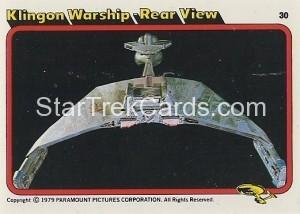 Star Trek The Motion Picture Kilpatrick's Bread Trading Card 30