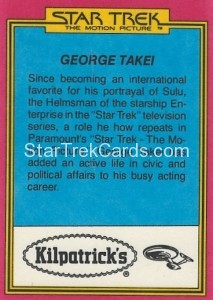 Star Trek The Motion Picture Kilpatrick's Bread Trading Card Back 10