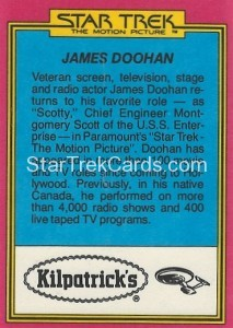 Star Trek The Motion Picture Kilpatrick's Bread Trading Card Back 19