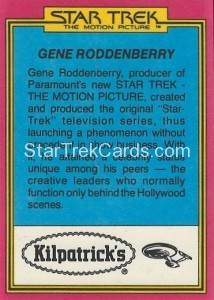 Star Trek The Motion Picture Kilpatrick's Bread Trading Card Back 28