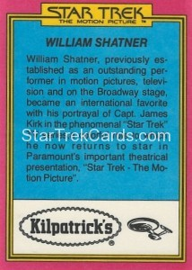 Star Trek The Motion Picture Kilpatrick's Bread Trading Card Back 5