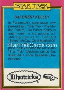 Star Trek The Motion Picture Kilpatrick's Bread Trading Card Back 7