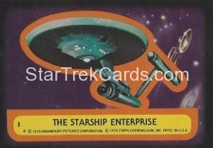 Star Trek Topps Trading Card Sticker 8
