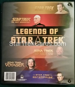 Legends of Star Trek Trading Card Binder 2008 Back