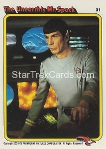 Star Trek The Motion Picture Colonial Bread Trading Card 31