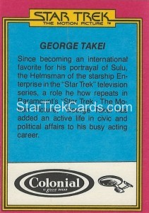 Star Trek The Motion Picture Colonial Bread Trading Card Back 10