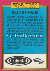 Star Trek The Motion Picture Colonial Bread Trading Card Back 5